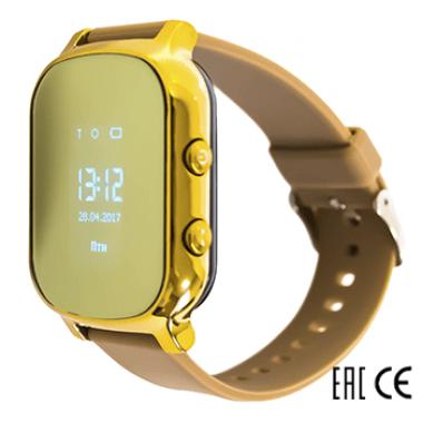 Смарт часы Tiroki T58 золотые для девочки