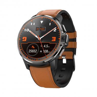 Часы с видеозвонком LEMFO LEMP коричневые кожа для мужчин