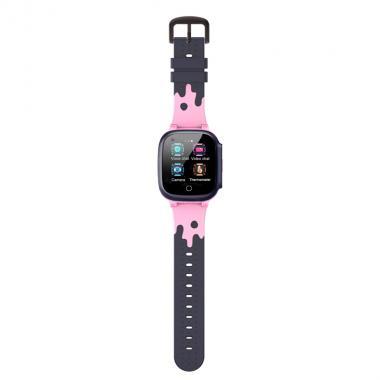 Часы  с градусником Tiroki T8W розовые для девочки